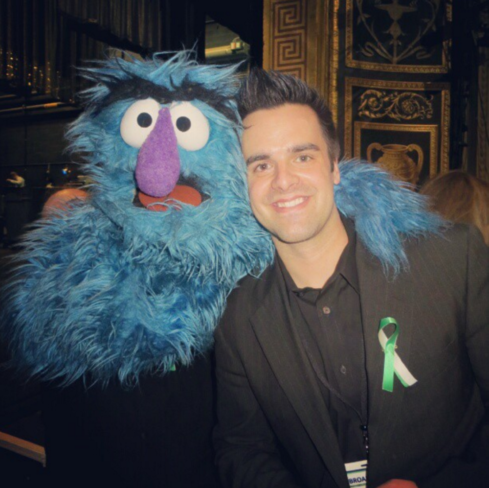 Michael J Moritz Jr with Cookie Monster!