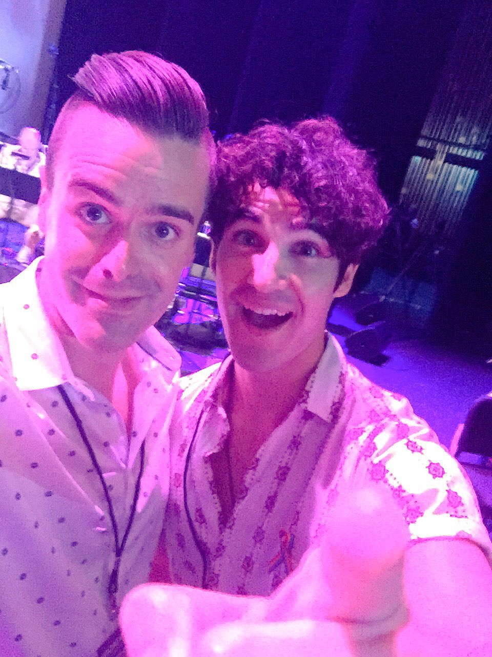 Michael J Moritz Jr and Darren Criss