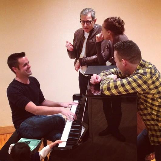 Michael J Moritz Jr with Jeff Goldblum, Laurie Metcalf, and Robin de Jesus