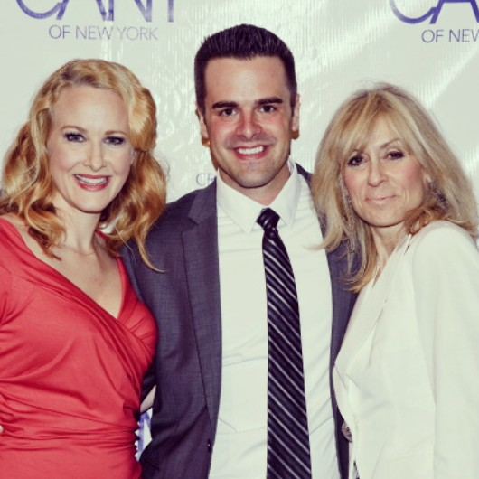 Michael J Moritz Jr with Katie Finneran and Judith Light