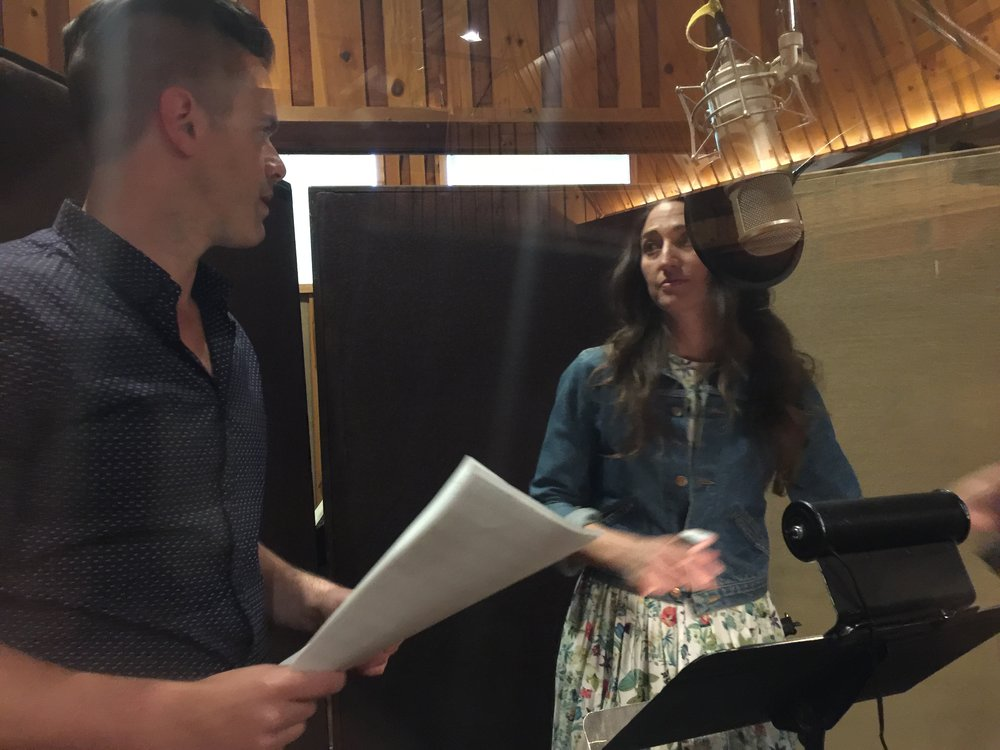 Michael J Moritz Jr in the studio with Sara Bareilles