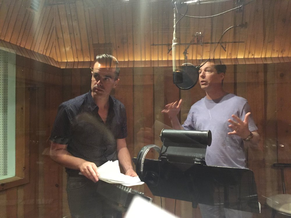 Michael J Moritz Jr in the studio with Sean Hayes