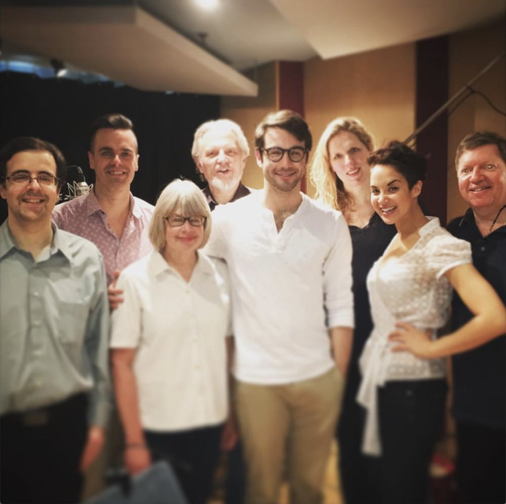 Michael J Moritz Jr and Al Silber in studio Arlington Cast Recording