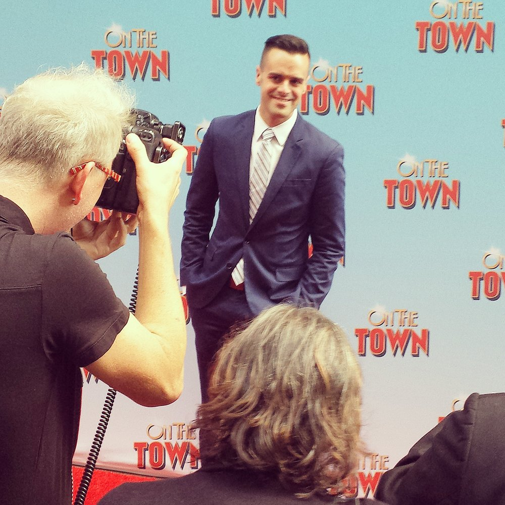 Michael J Moritz Jr at On the Town Premiere