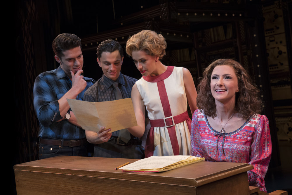 Josh-Piterman-as-Gerry-Goffin-Mat-Verevis-Barry-Mann-Amy-Lehpamer-Cynthia-Weil-and-Esther-Hannaford-Carole-King-in-Beautiful-The-Carole-King-Musical.-Photo-by-Joan-Marcus.JPG.jpg