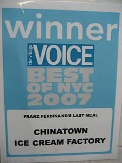 Village Voice Best of NYC 2007