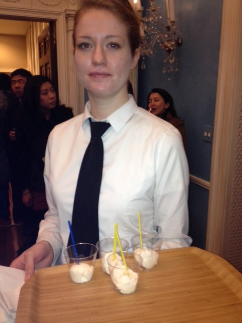 Green Tea, Mango, Lychee, and Dulce De Leche Ice Creams are being served at Gracie Mansion for the Mayor's Celebration