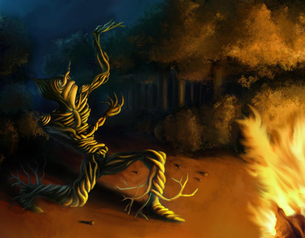 "Digital illustration for graphic novel concept — ""Evolution Revolution"""