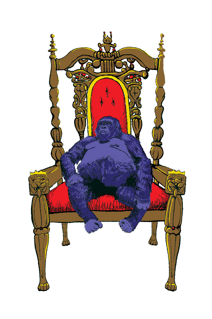 """Digitally rendered for screenprint — """"The Primitive Nature of Royalty"""""""