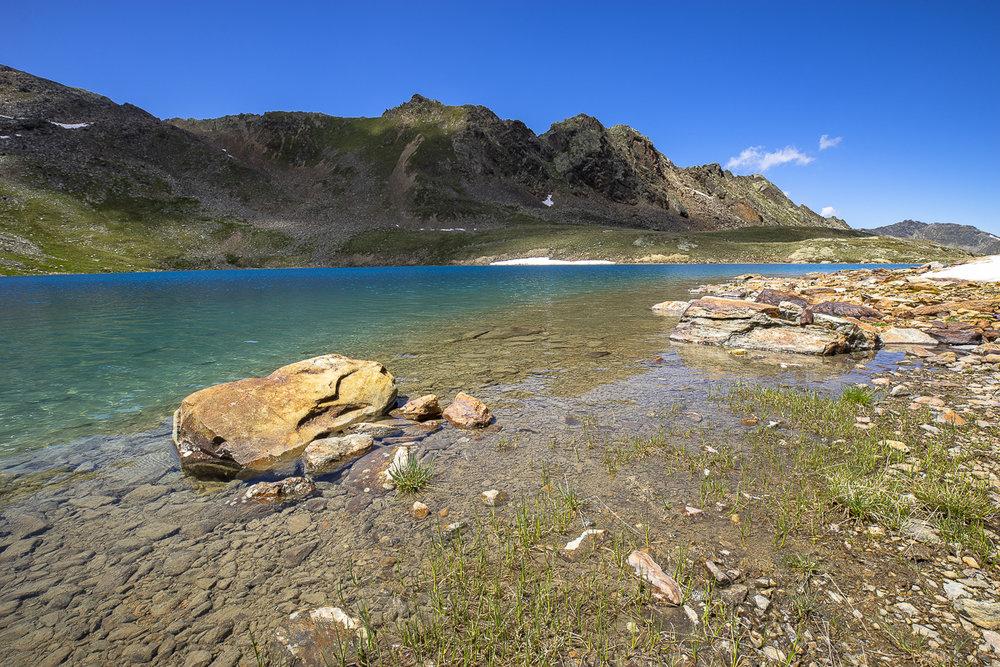 Könnte es einen schöneren Platz für eine Pause geben? Der Wannenkarsee in den Ötztaler Alpen.