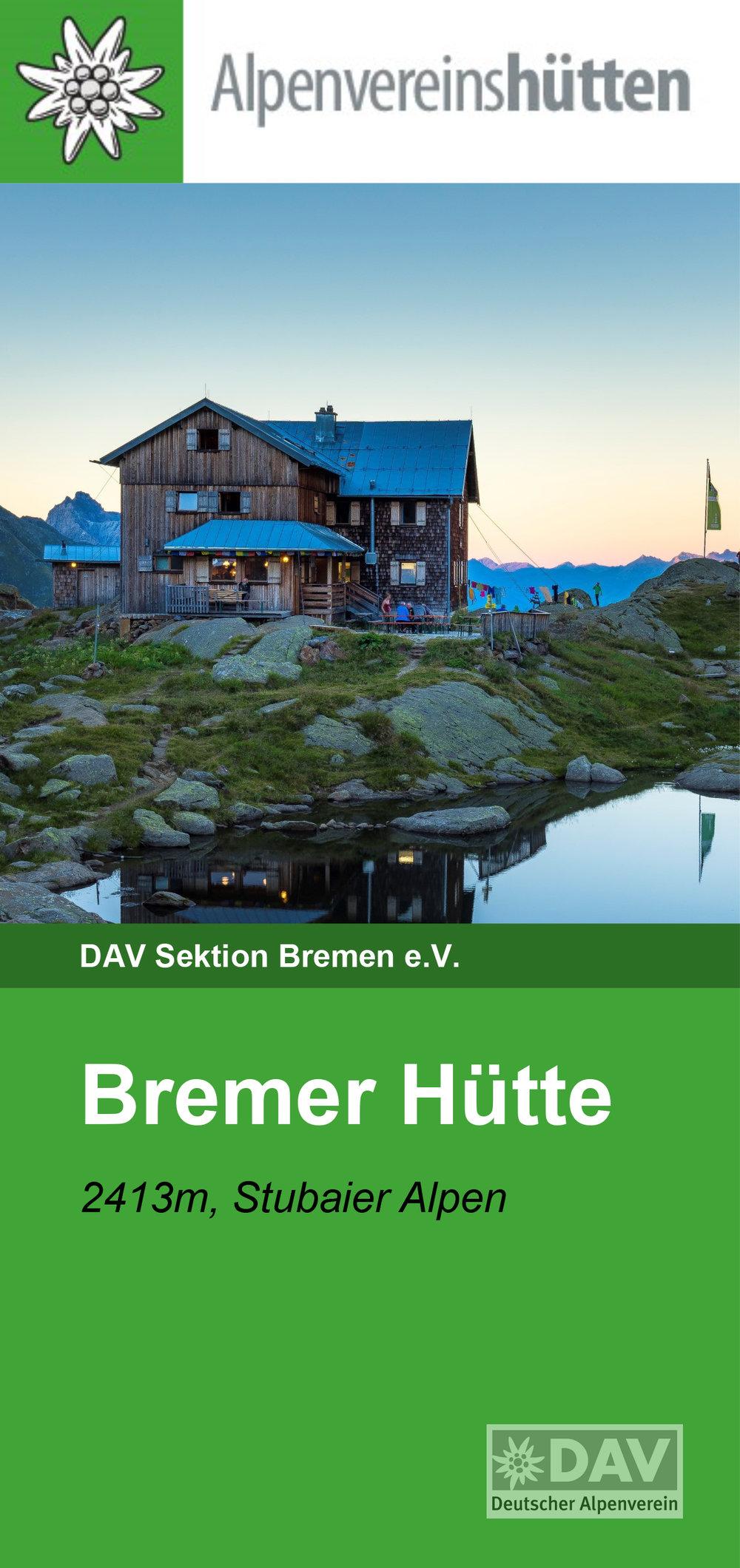 """Und sie ist das """"Aushängeschild"""" des neuen Hüttenflyers der Bremer Hütte."""