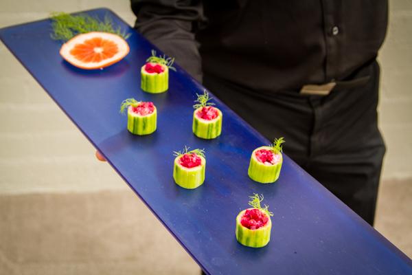 Ahi Poke Cucumber Bites