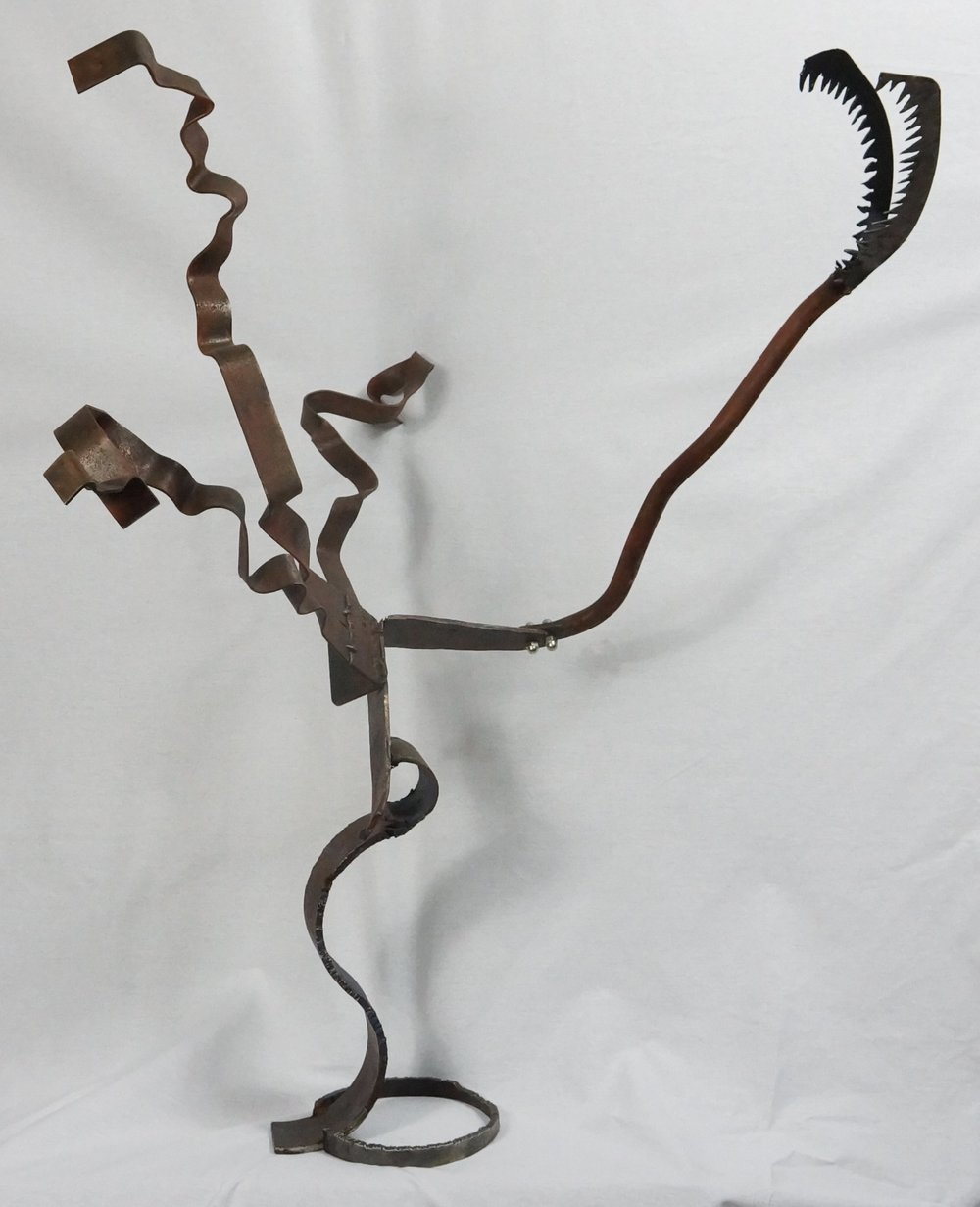 Height-  36 1/2inches   Width - 30 inches  Length - 27 1/2 inches  Steel  Created in 2016