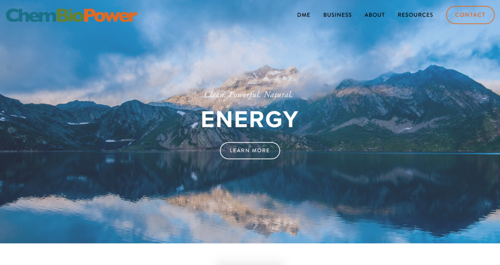 chembiopower - a comprehensive website built for chembiopower, ltd as a hub for all information on dimethyl ether and its uses in industry.