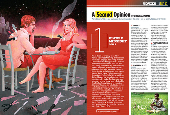 The final spread. Image provided by Entertainment Weekly.