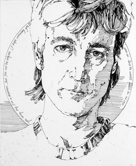 As a long time Lennon fan I drew this pen and ink portrait of him when I was an art student at OCAD, where I now teach.