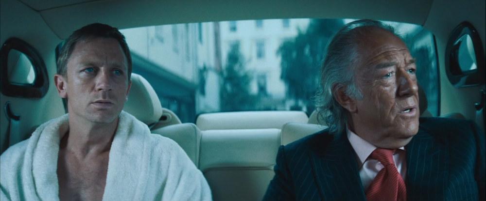 Look - it's James Bond and Dumbledore talking about CRIMES.   Image credit:  killerstencil.files.wordpress.com