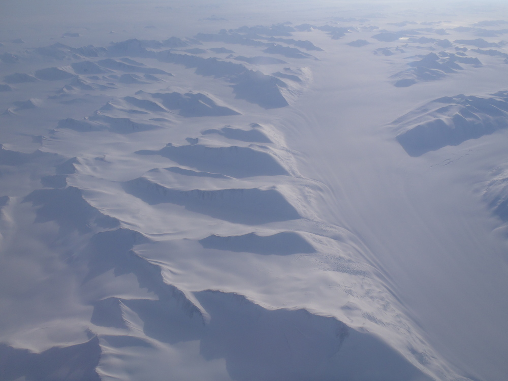 Antarctica from the window of the C-17.  Almost there!