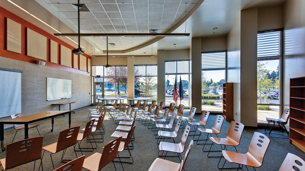Interior, Lecture Room [Photo by Gary Wilson]