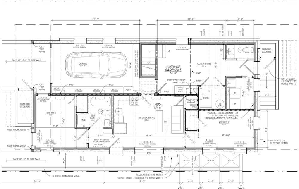 Hawthorne adu c w dorin architecture for Adu garage plans
