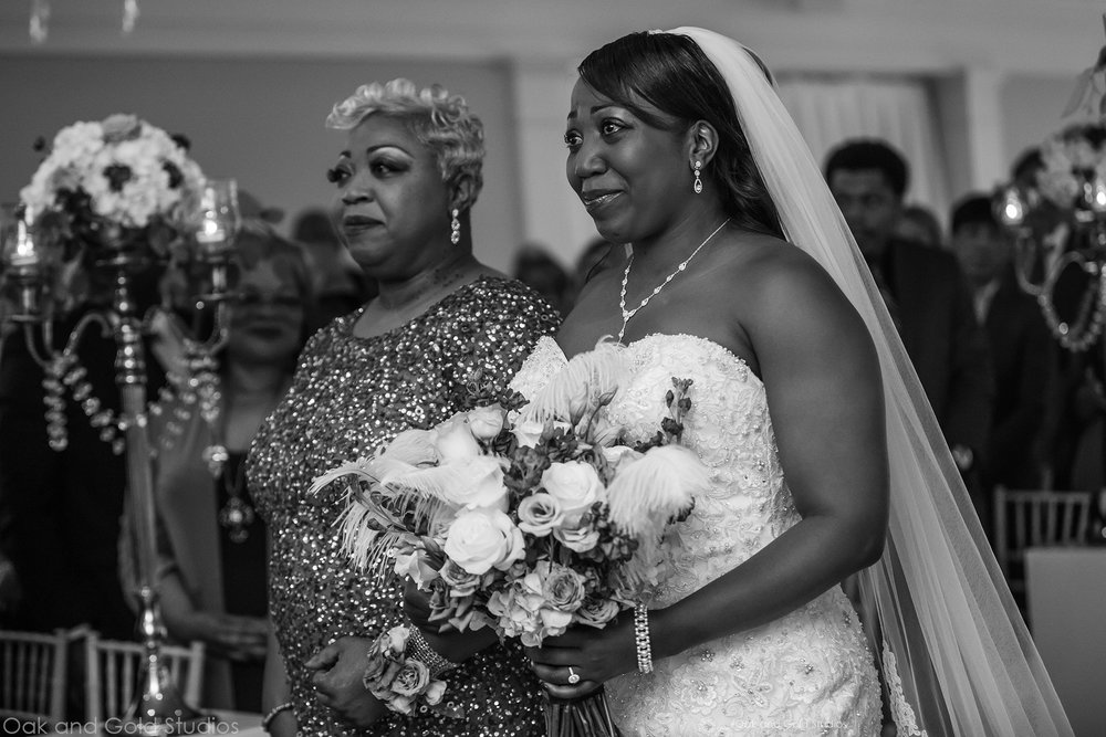 LaShundra and her mom have a very special bond. Her mom walked her down the isle.