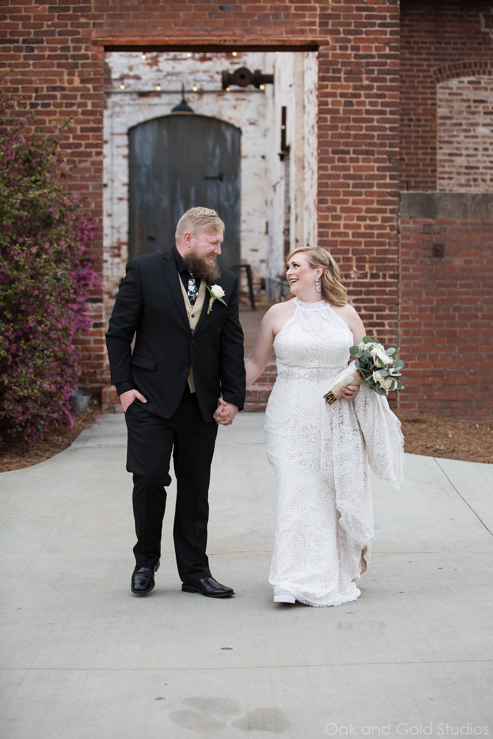 bride and groom outside the engine room.jpg