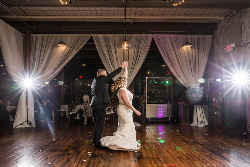 bride and groom dance at the engine room.jpg
