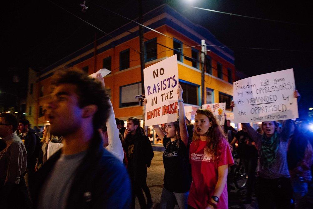 L'unique manifestation anti-Trump que nous croiserons sera à N.O.L.A