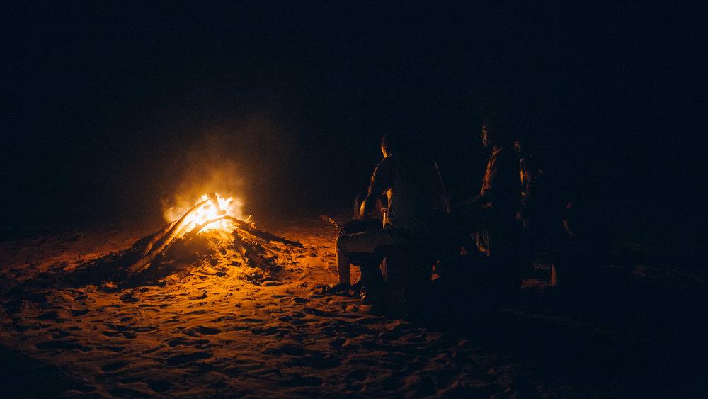 Dans le désert de Lompoul.