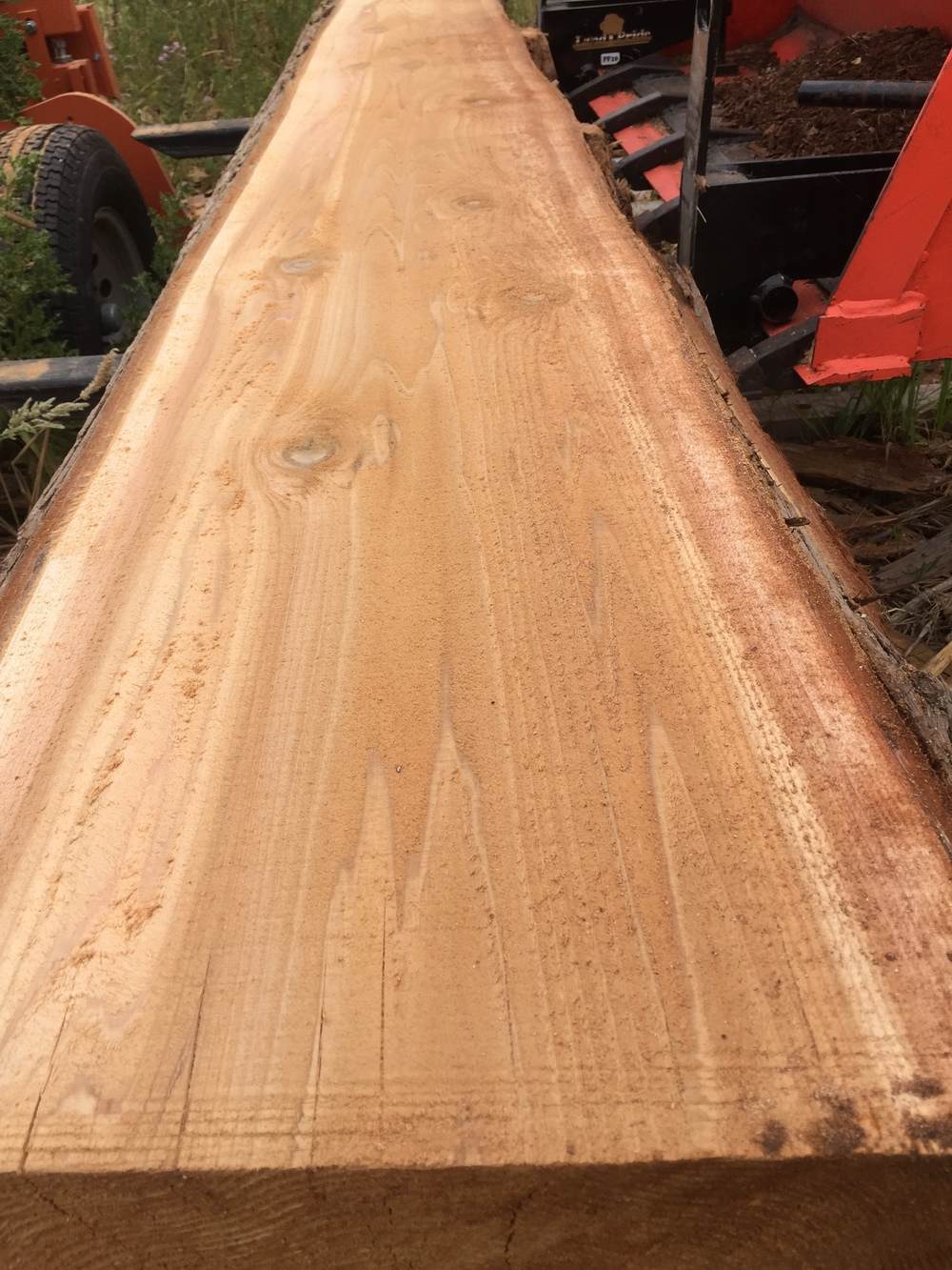 This was our first time milling Cedar, and the grain proved to be gorgeous! We have a small amount left over in inventory for future orders.