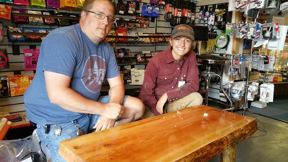 Delivering the table to Wayne at Uncle Roy's Music shop was a lot of fun. Next time though, we will bring Lance!