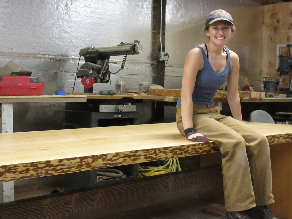 WE assembled the conference table for the first time in our shop the day before we delivered it. When we finished, dad and I just started laughing and high-fiving! We couldn't beleive that we had really done it! It was a moment that I will never forget as long as I live.