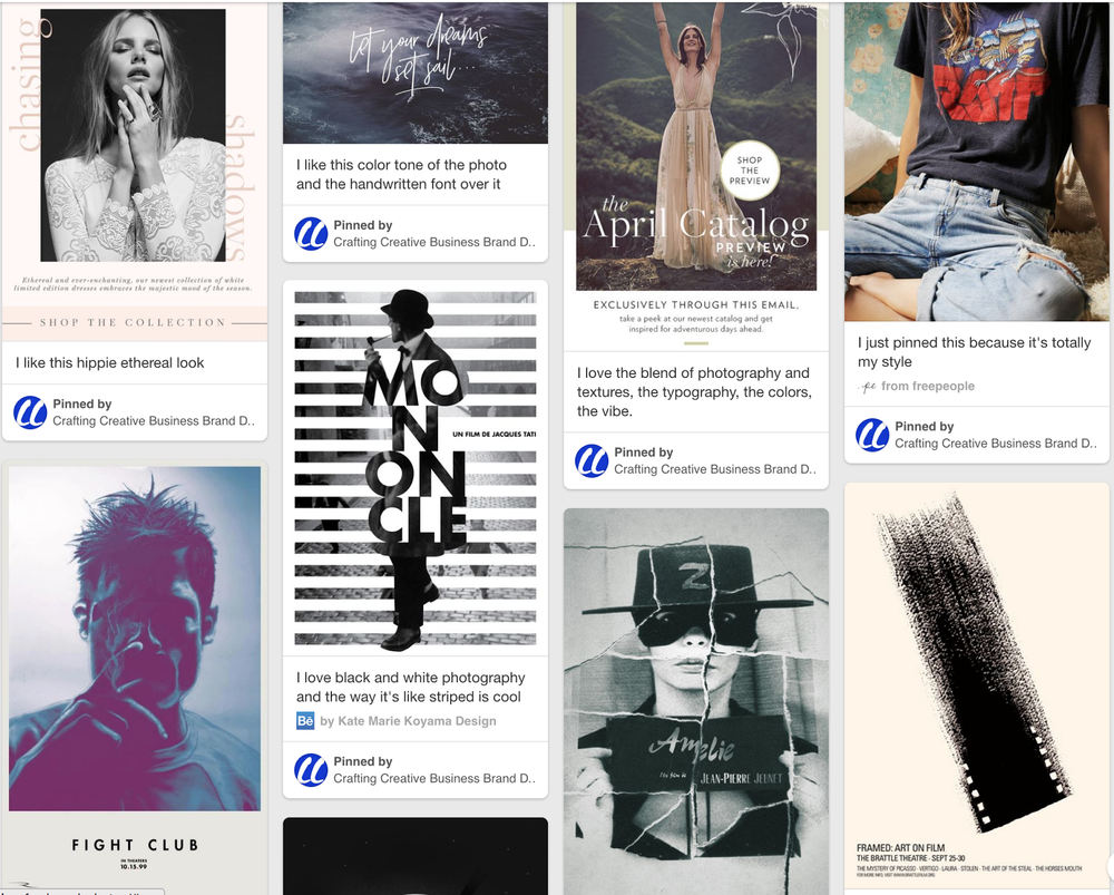 Create a brand moodboard in Pinterest.