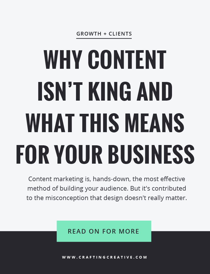 Time for some mythbusting: why content isn't king and what this means for your website marketing.