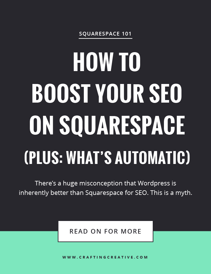 There's a huge misconception that Wordpress is inherently better than Squarespace for SEO. This is a MYTH. In this post, I'm laying out 7 simple steps to optimize your Squarespace SEO.