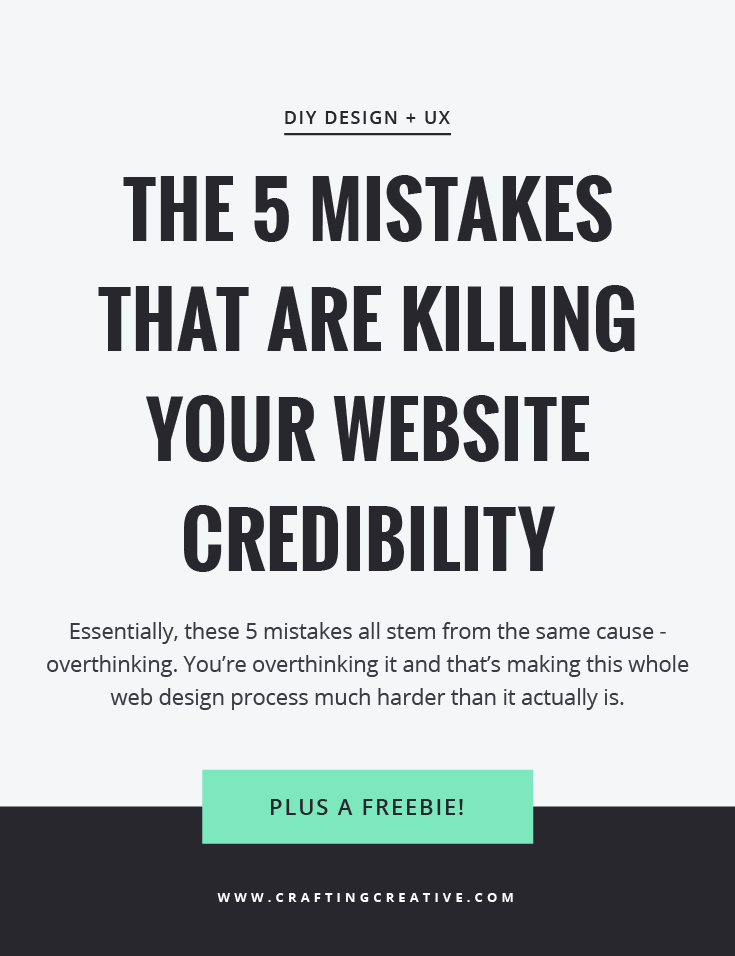Struggling to make your website look professional and to bring in more customers? You'll want to read this post about the 5 critical mistakes you're probably making with your website and how to fix them. PLUS a free homepage blueprint for you.
