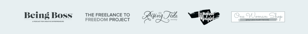 Meghan has been featured on the Being Boss Blog, The Freelance to Freedom Project Blog, The Rising Tide Society Blog, Meghan Maydel's Blog, The One Woman Shop Blog, and more...