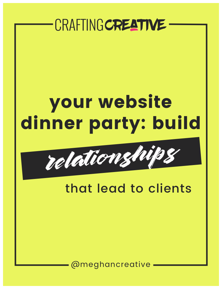 This experience of welcoming a guest into your home is very much like the experience you want to create for your website visitors. Now, I may not be able to host a great dinner party but I certainly can design a kickass website. And these are some of the guiding principles I consider.... Click through to read the post!