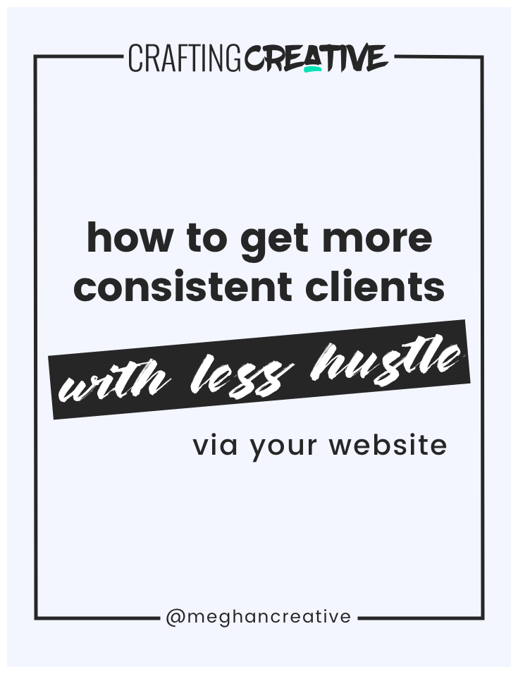 "Getting consistent client inquiries on autopilot (with zero hustle) starts with a well-crafted website. So, today I'm going over your essential ""Web Prep Checklist"" so that you understand all the parts that go into creating a stellar site. Click through to read the post (and get the checklist)!"