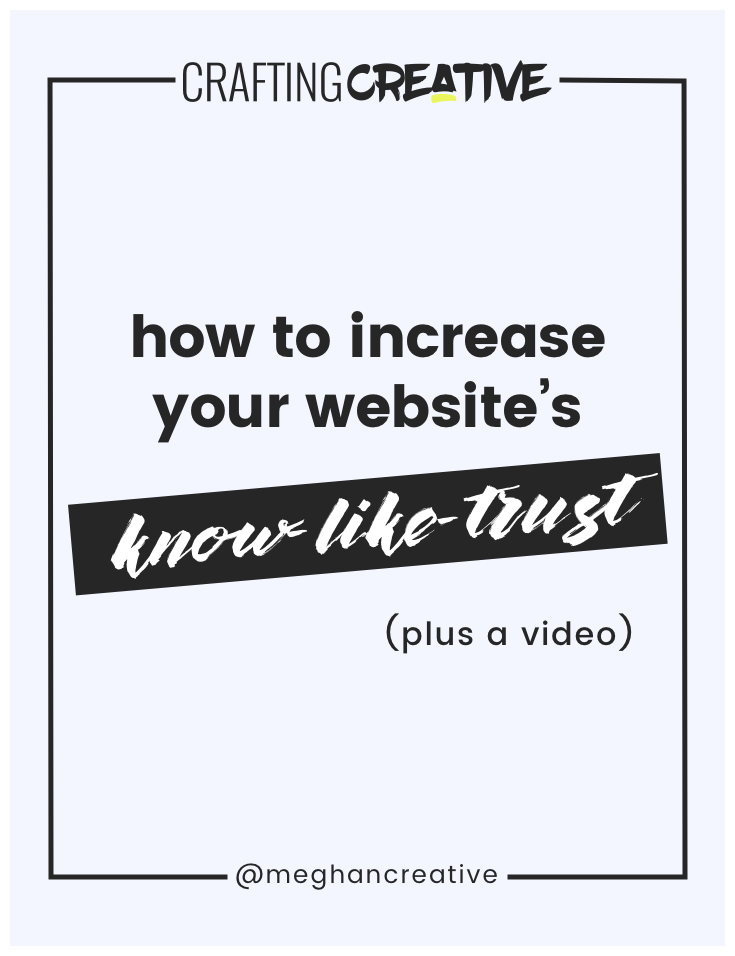 """Online business owners and creative entrepreneurs, listen up! The """"know-like-trust factor"""" isn't what you think. Click through to learn the crucial piece that you're missing and how to fix it."""