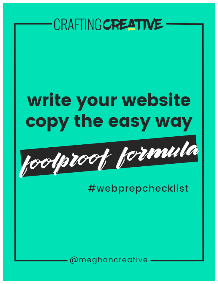 The #1 mistake I see new business owners making with their websites is that they'll buy a beautiful Wordpress theme or find a Squarespace template that they like visually and then they'll cram their copy into that template. Learn why you need to write your own web copy in this post.