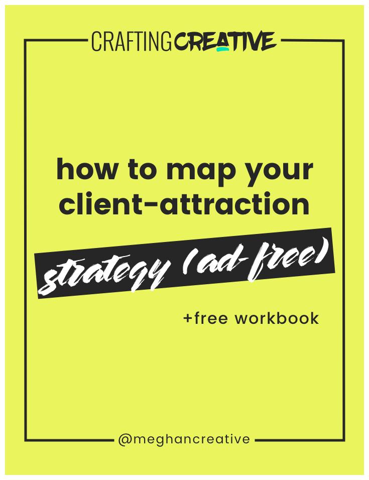 After you've crafted a website that  does  convert, you just need to get MORE client eyeballs on your site. That's what we're talking about today: your client attraction channels. Click through to read the post, watch the training, and download the FREE workbook.