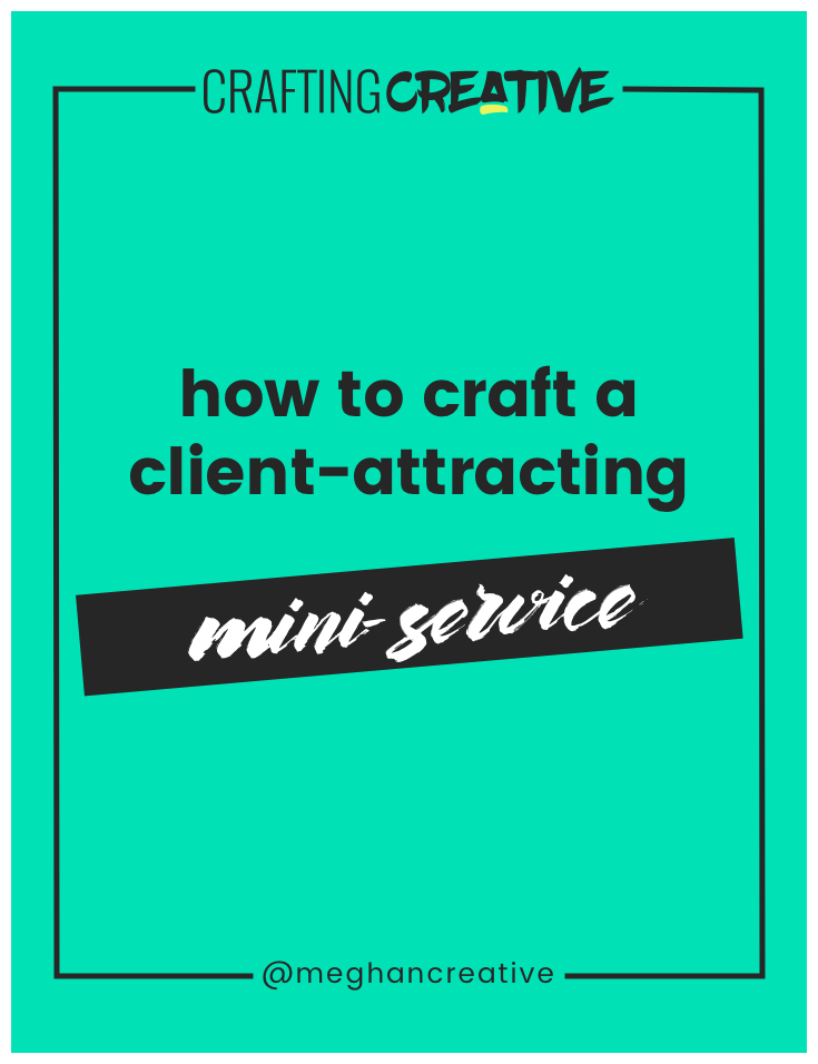 "As service-based creative entrepreneurs building the perfect set of packages isn't easy. We're told that we need to have 3 packages that a single client can go through. Or that we need to have up-sells and down-sells and cross-sells, ""oh my!"". In this post, I'm walking you through my mini-service solution (plus a video). Click through to read it!"