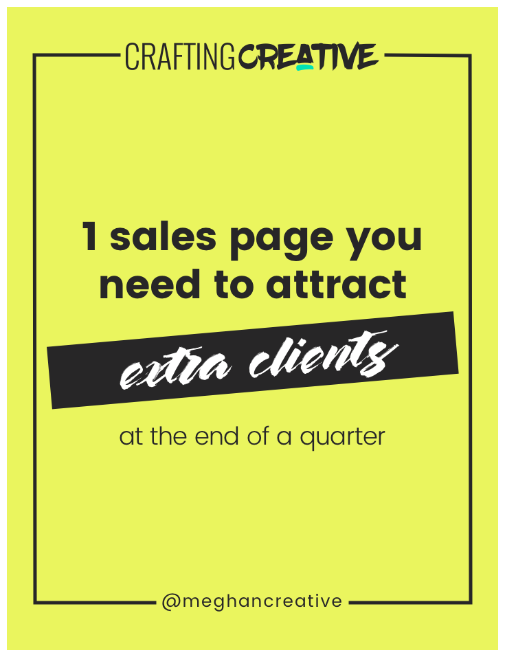 In this blog post, I'm covering the #1 way you can bring in some extra clients and cash at the end of the month or quarter with only 1 sales page. Click through to watch the video and read the post!