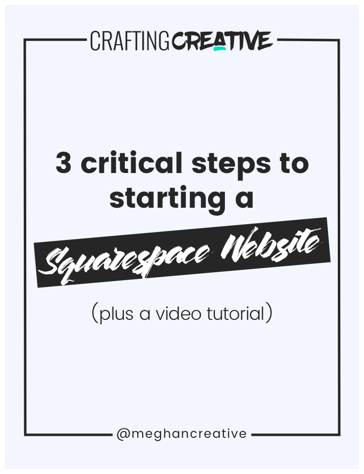 In this post, I walk you through the 3 crucial steps that I take with every Squarespace website that I develop. These are things that aren't often discussed (and sometimes overlooked entirely). Get ready to take notes as you watch this 2-part video training!