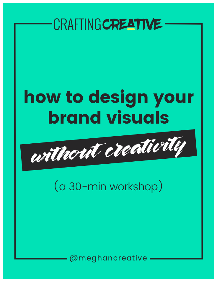 Struggling to make your website look profesh? It may be because you didn't start the design process by defining both the visual and verbal expression of your brand. I walk you through how to do that in an easy, systematic, and no-creativity-needed FREE 30-minute workshop. Click through to watch!