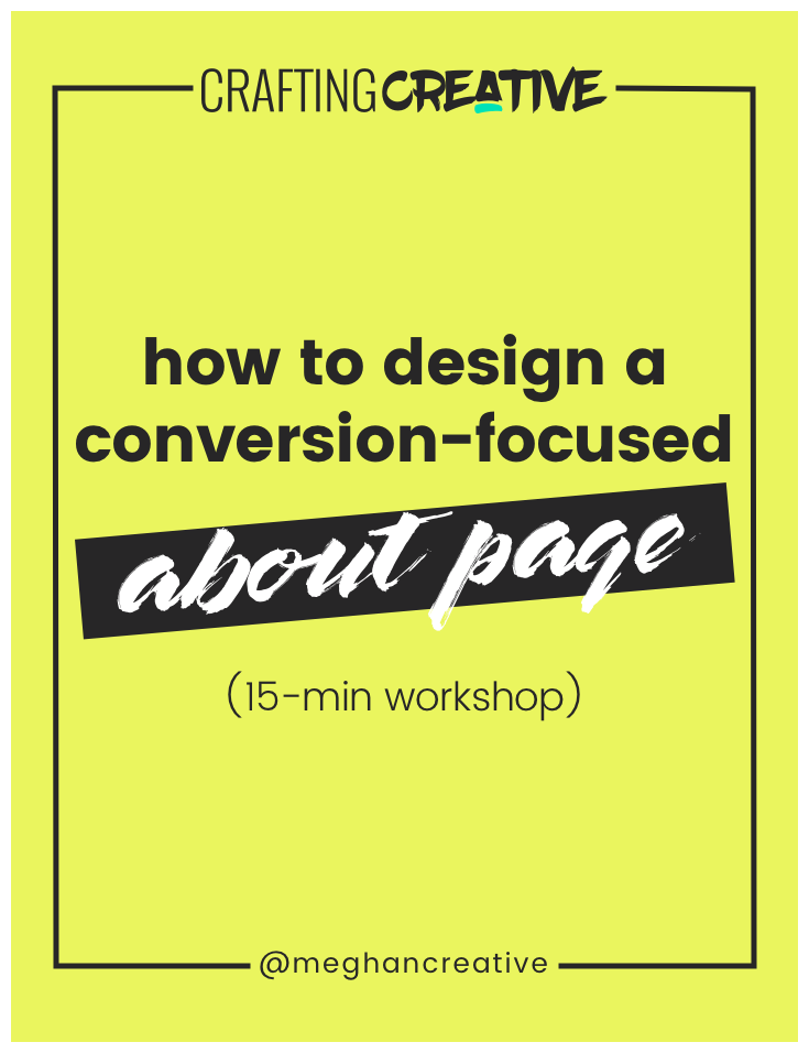 In this 15-minute training, I'll walk you through the exact process I use to design a conversion-focused about page. Click through to watch the free training and get access to the bonus materials!
