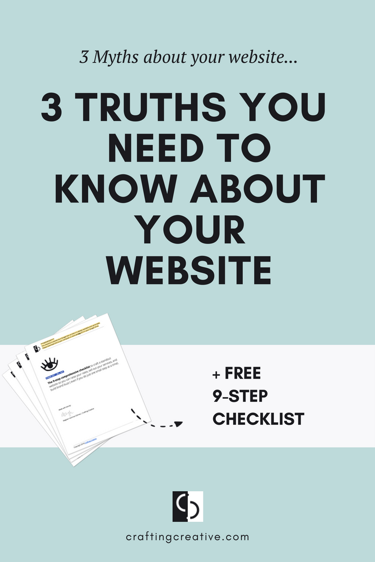 These 3 common website myths are often thrown about by influencers but they're dead wrong. And It's going to take more TIME and more HUSTLE to achieve the results you want UNLESS you can make the necessary mental shifts to let these myths go. Click through to find out what to do.