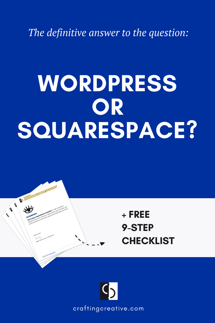 This question gets asked A LOT. Wordpress or Squarespace? I've seen it so many dozens and dozens of times that it's time to draw my line in the sand. I'm finally writing the definitive answer so that people can stop disseminating the same generic advice and outdated information.