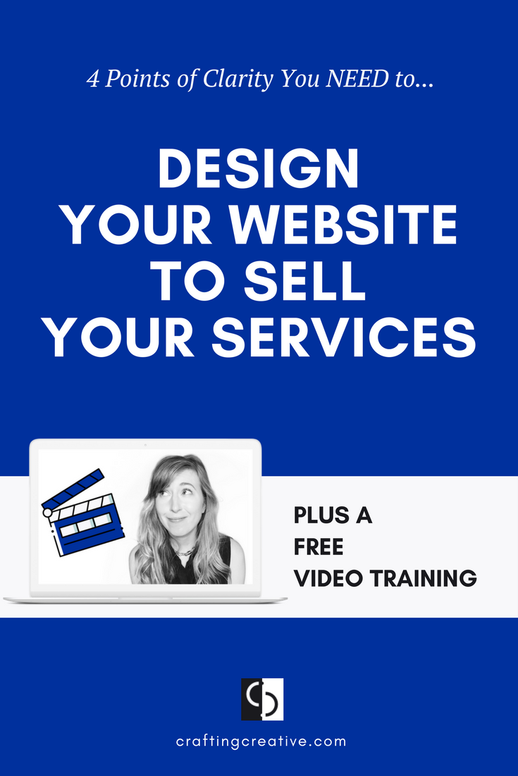 You want to design your website to be your 24/7 salesperson so that you can raise your rates and sell out your services without hustling your ass off. BUT you don't have a clear vision for how to get your website to sell, which is what I walk you through in this free training.